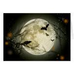 Halloween Full Moon Greeting Card