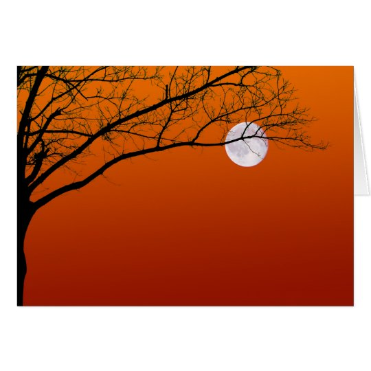 Halloween Full Moon Greeting Cards