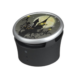 Halloween full moon night background bluetooth speaker