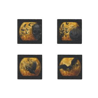 Halloween - Full Moon Set Stone Magnet