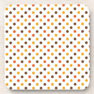 Halloween Fun Dots Beverage Coasters