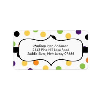 Halloween Fun Dots  Return Address Labels. Address Label