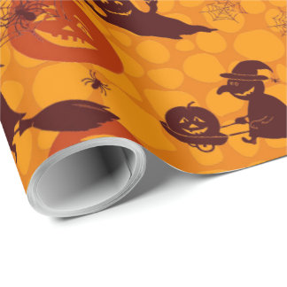 """Halloween Fun Matte Wrapping Paper, 30"""" x 15' Wrapping Paper"""