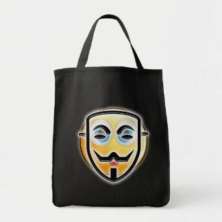 Halloween Funny Anonymous Emoji Mask Candy Bag