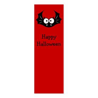 Halloween funny bat bookmark business card templates