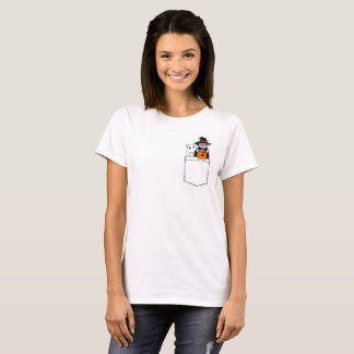 Halloween Funny Cats in The Pocket T-Shirt