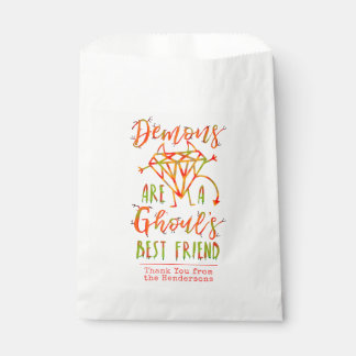 Halloween Funny Demons are a Ghouls Best Friend Favour Bag