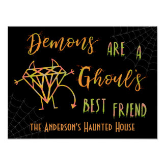 Halloween Funny Demons are a Ghouls Best Friend Poster