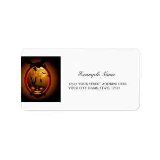 Halloween, funny pumpkin address label