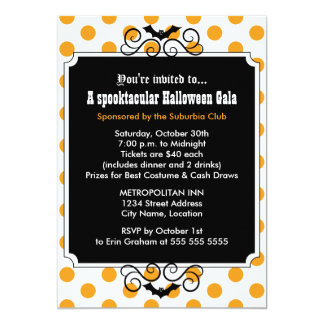 Halloween Gala Party Invitation