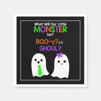 Halloween Gender Reveal Paper Napkins
