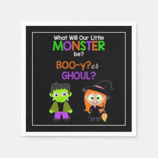 Halloween Gender Reveal Paper Napkins