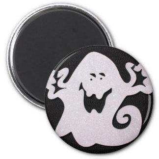Halloween ghost 6 cm round magnet