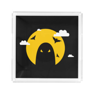 Halloween ghost acrylic tray
