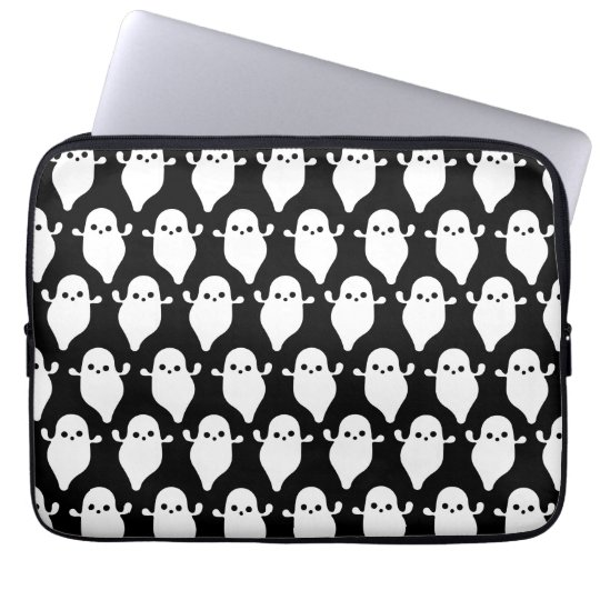 Halloween Ghost Boo Boo Pattern Art Laptop Sleeve