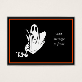 Halloween Ghost Floating Your Way! Business Card