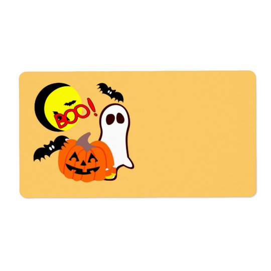 Halloween Ghost Friends Shipping Label