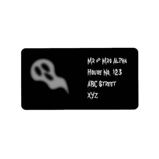 Halloween Ghost Label Address Label