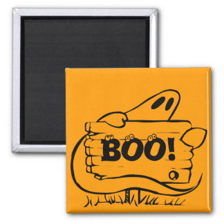 Halloween Ghost Square Magnet
