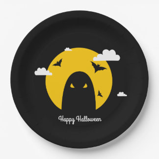 Halloween ghost paper plate