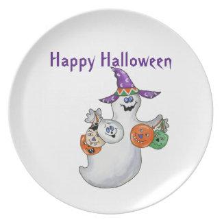 Halloween Ghost Plates