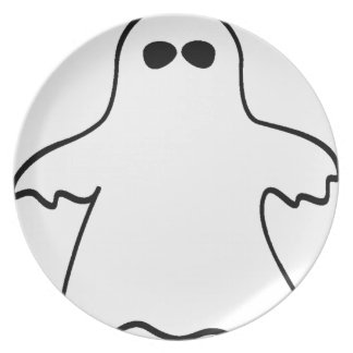 Halloween Ghost Party Plates