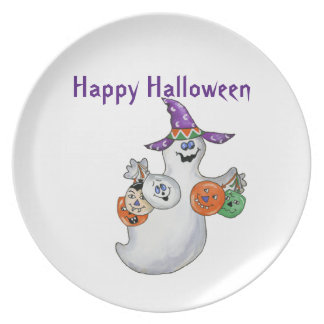 Halloween Ghost Plates