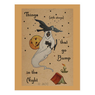 Halloween Ghost Postcard