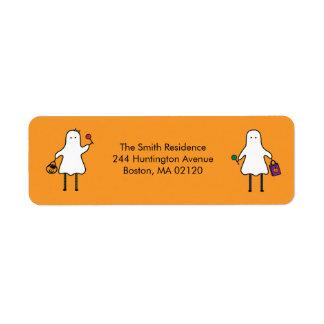 Halloween Ghost Return Adress Label Return Address Label
