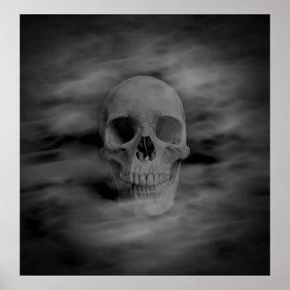 Halloween ghost skull poster