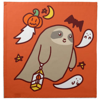 Halloween Ghost Sloth Napkin