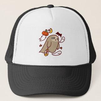 Halloween Ghost Sloth Trucker Hat