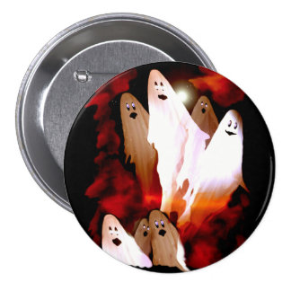 Halloween Ghosts 7.5 Cm Round Badge