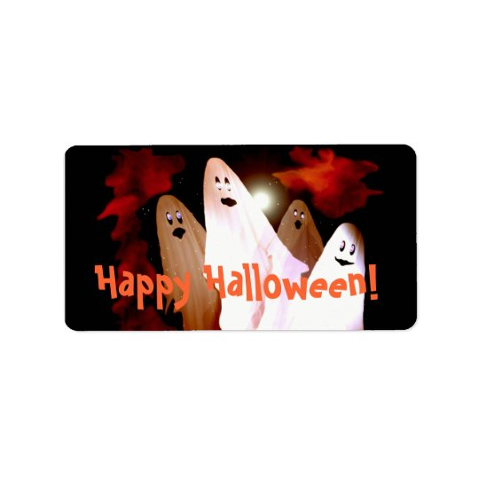 Halloween Ghosts Gift Tag Address Label