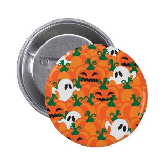 Halloween Ghosts Haunted Pumpkin Patch 6 Cm Round Badge