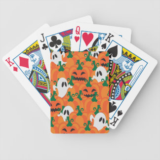 Halloween Ghosts Haunted Pumpkin Patch Bicycle Playing Cards