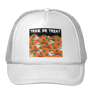 Halloween Ghosts Haunted Pumpkin Patch Cap