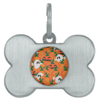 Halloween Ghosts Haunted Pumpkin Patch Pet ID Tag