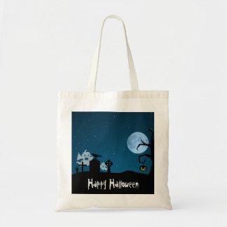 Halloween Ghosts in Graveyard - Bag