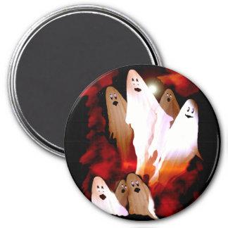 Halloween Ghosts 7.5 Cm Round Magnet