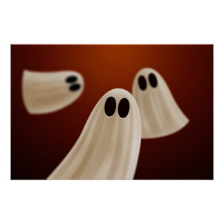 Halloween Ghosts Poster