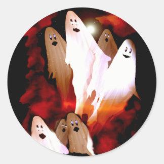 Halloween Ghosts Round Sticker