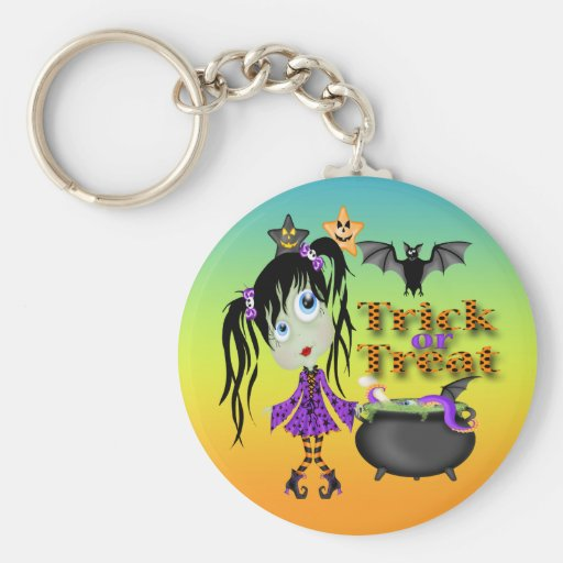 Halloween Ghoul Girl Key Chains Keychains