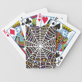 Halloween Ghouls & Goblins in a Spiderweb Bicycle Playing Cards