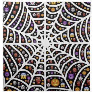 Halloween Ghouls & Goblins in a Spiderweb Napkin
