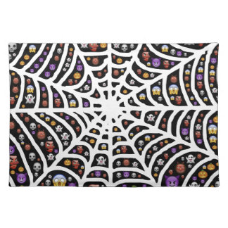 Halloween Ghouls & Goblins in a Spiderweb Placemat