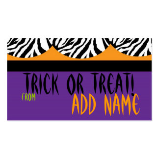 Halloween Gift Tag Business Card Template