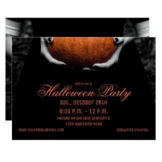 Halloween Girl with Pumpkin Invitation