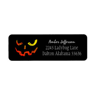Halloween Glowing Face Address Labels