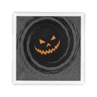 Halloween Glowing Jack O'Lantern in a black swirl